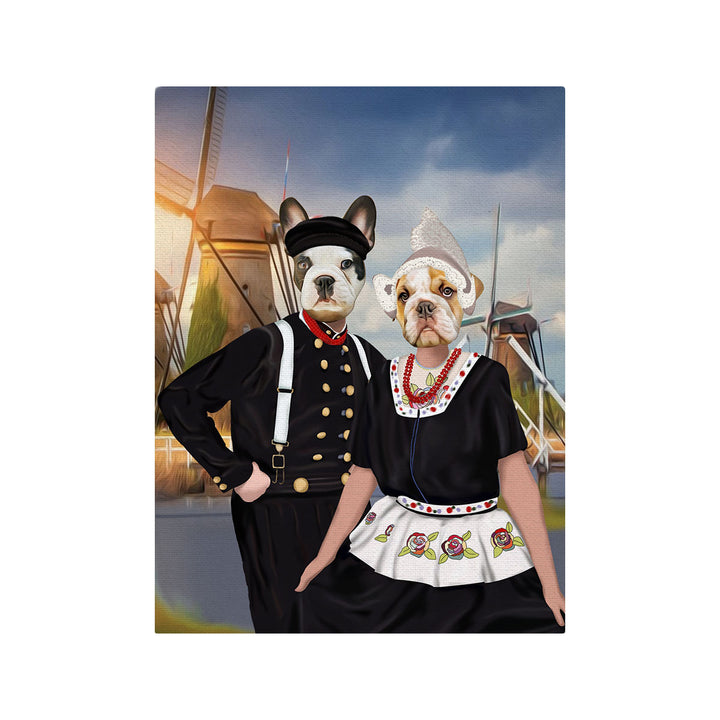Personalized Netherland Traditional Costume - Custom Pet Canvas