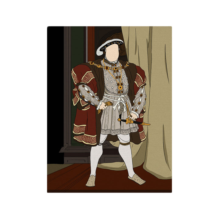 Henry VII Of England - Drawing Custom Canvas
