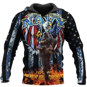 United States Navy Memorial Day Hoodie / S Hp82