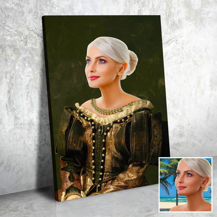 The Lady - Medieval - Portrait Custom Canvas