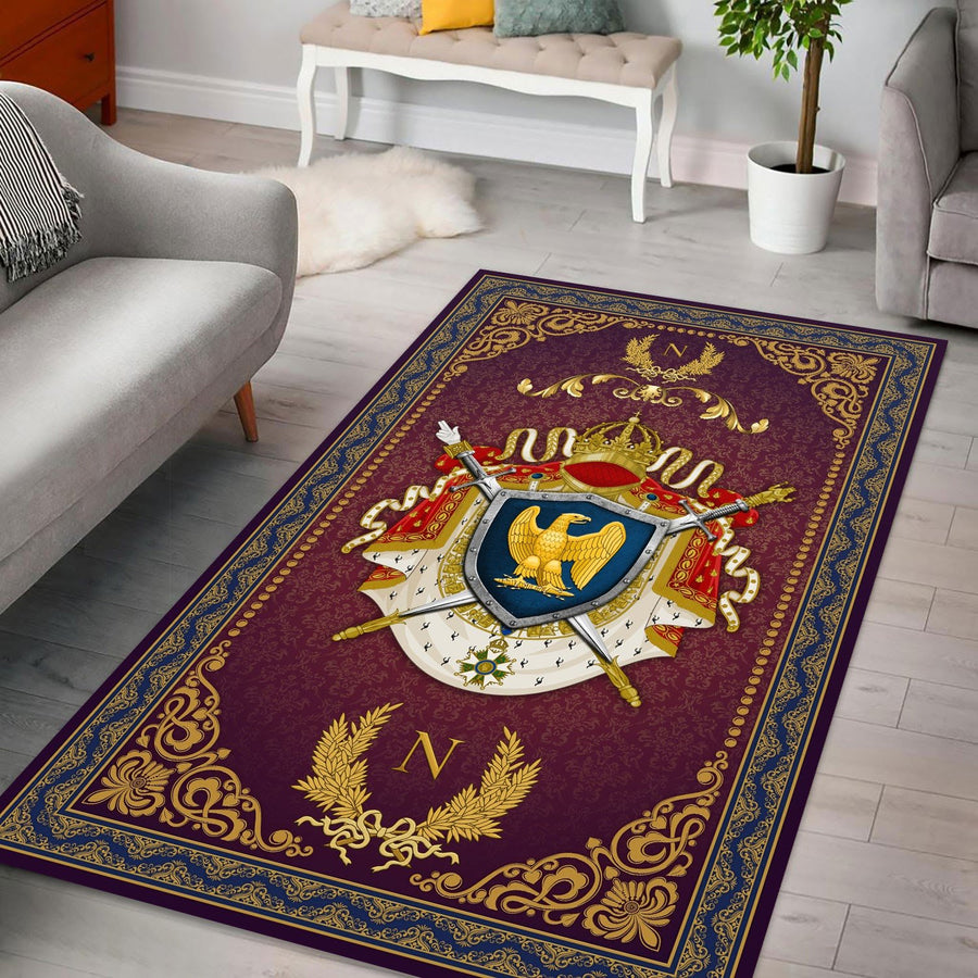 Coat Of Arms Second French Empire Rug / Large (5 X 8 Feet 59 94.5 Inches) Qm1271