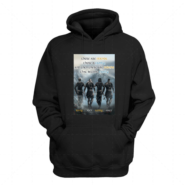 Personalized Canvas There Are Friends, There Is Family, And Then There Are Friends That Become Family Custom 4 Names 2D Hoodie  QM2324-4
