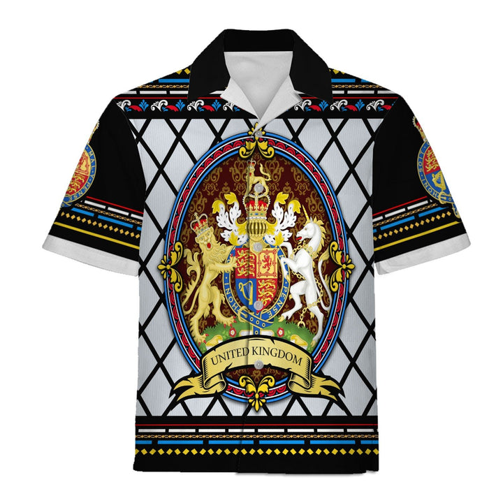 United Kingdom Coat Of Arms Shirt Hawaiian / S Qm1345