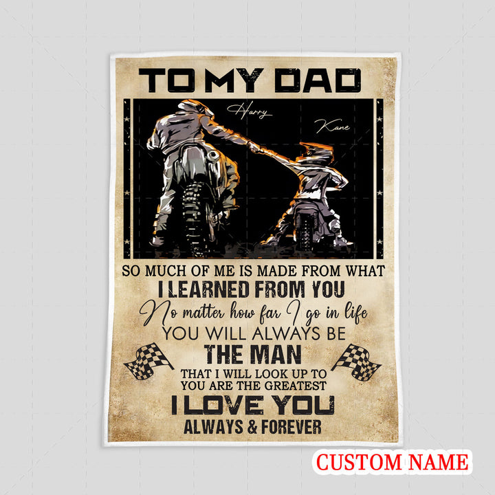 Personalized Blanket - Father Rider And Son