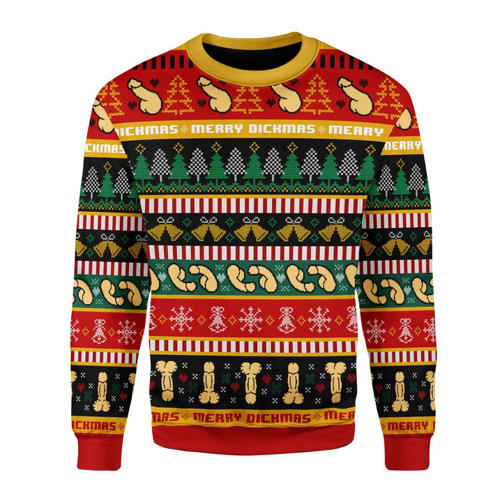 D**ck Ugly Christmas Sweater / S Qr1719