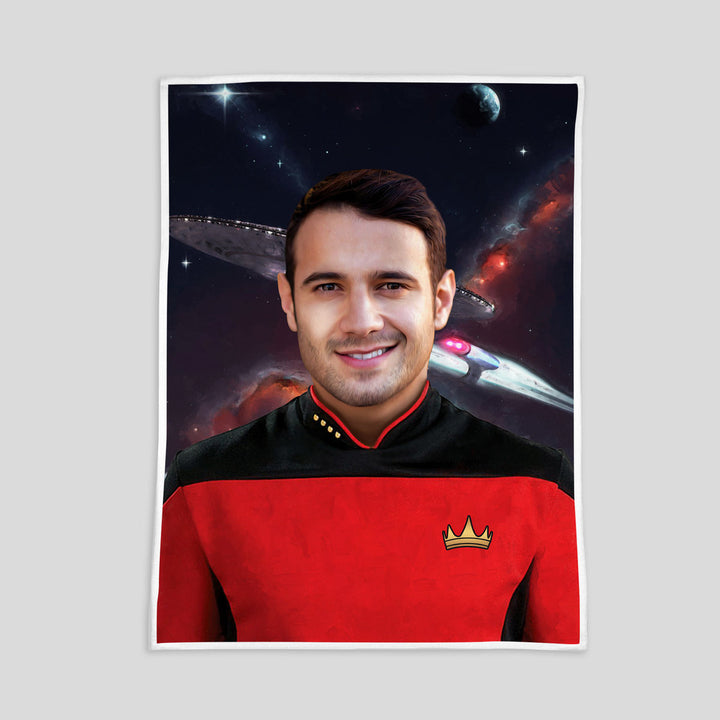 Customized Fleece Blanket - Captain Star Treck