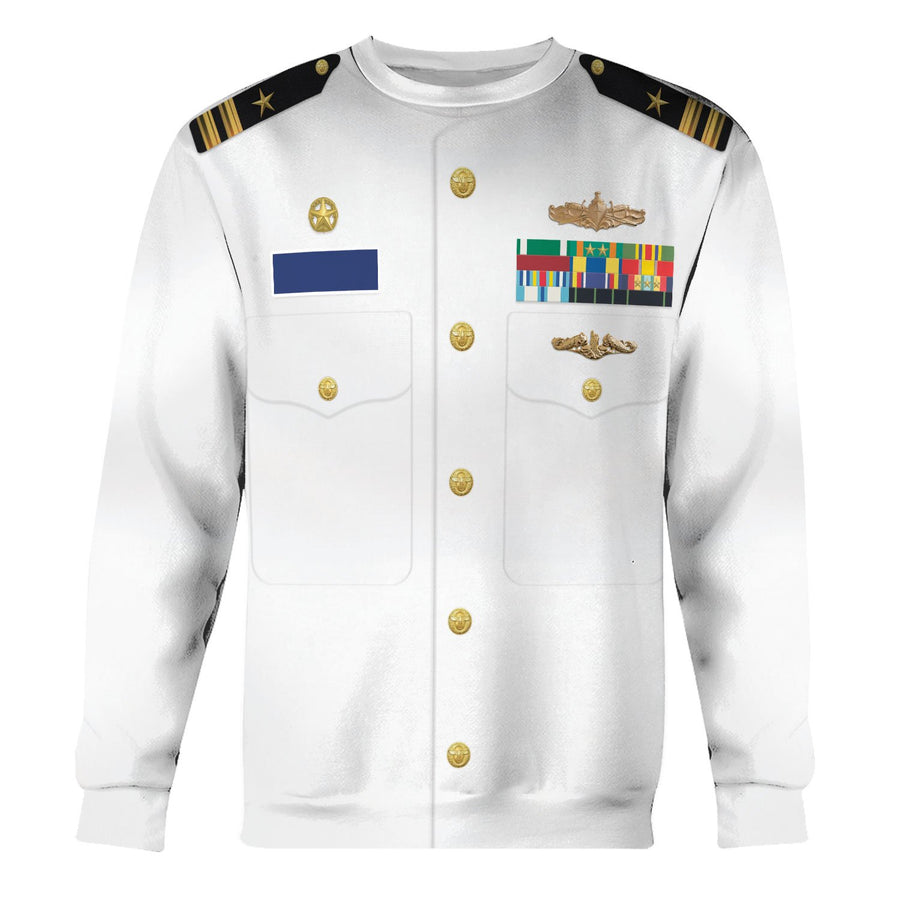 Us Navy Uniform Dress Service White Long Sleeves / S Vn243