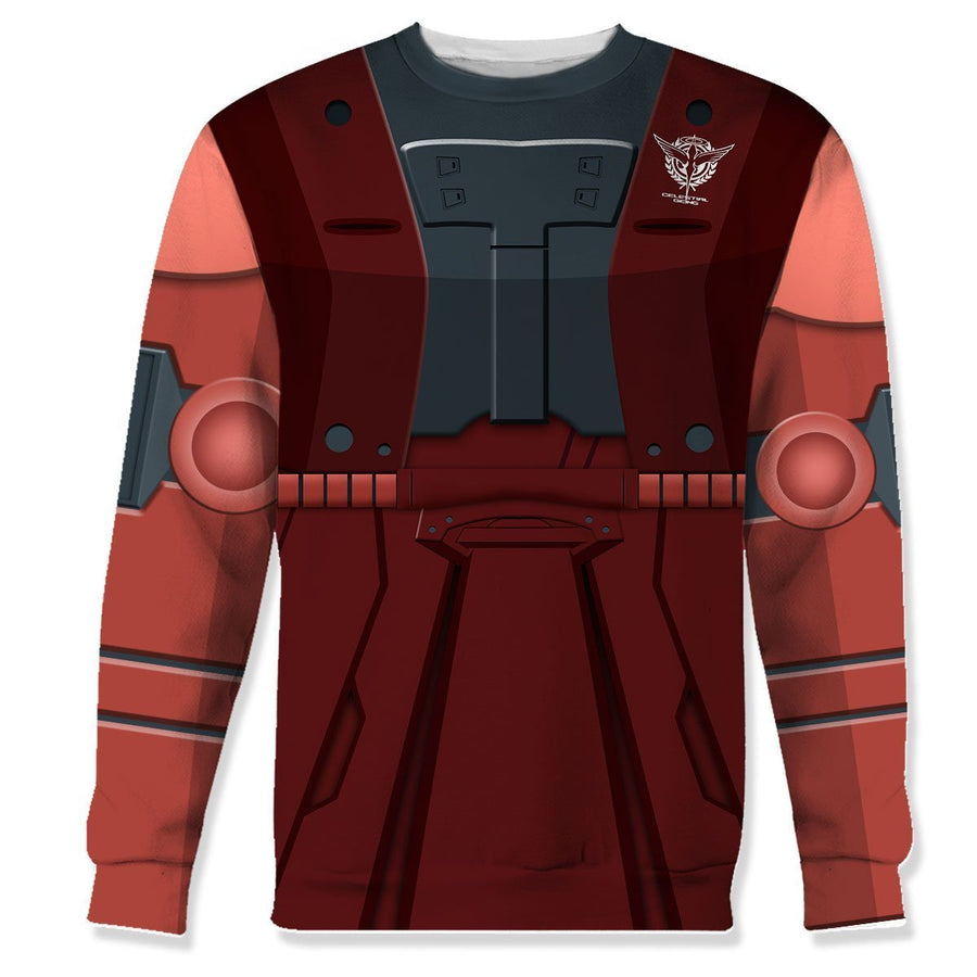 Prinkays 3D Red Zaku Qm9003 Long Sleeves / S