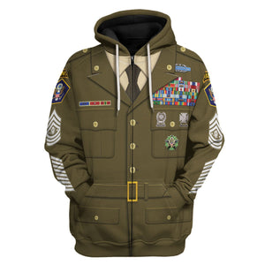 Us Army Greens Uniform Zip Hoodie / S Vn188