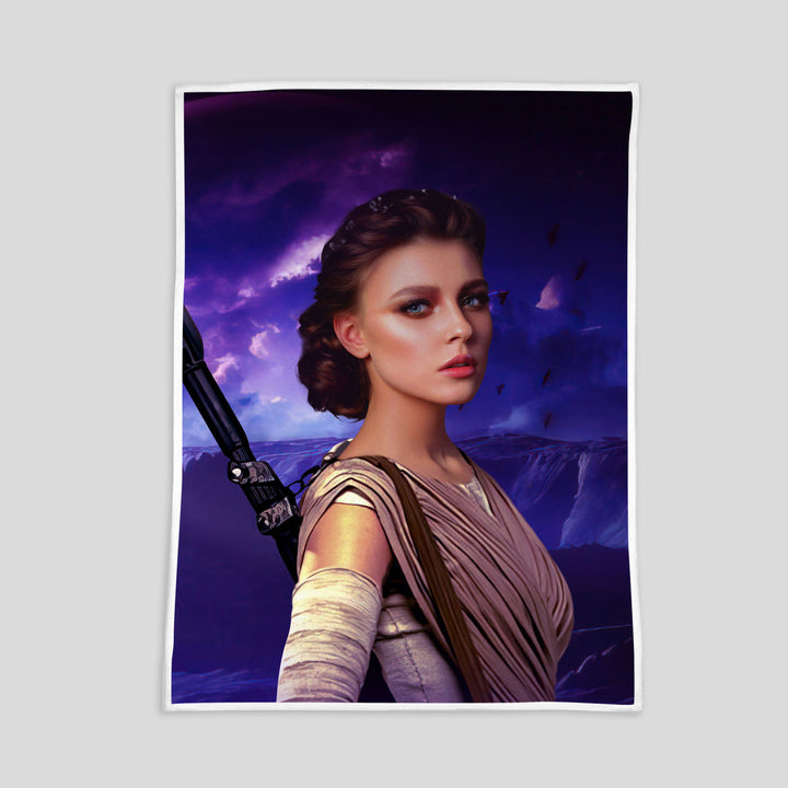 Customized Fleece Blanket Rey