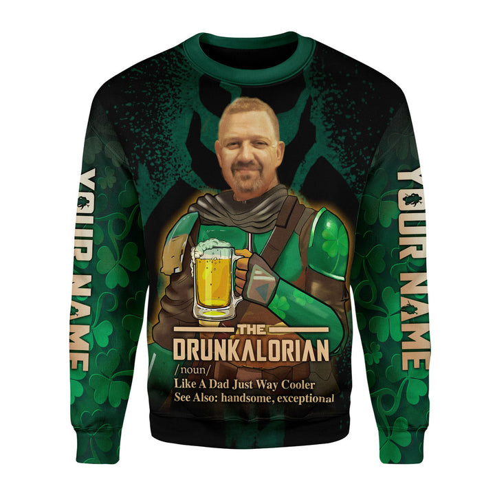 Personalized Photo Drunkalorian Just Like A Dad Just Way Cooler Hoodie