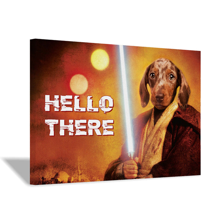 Obi Hello There - Custom Pet Canvas