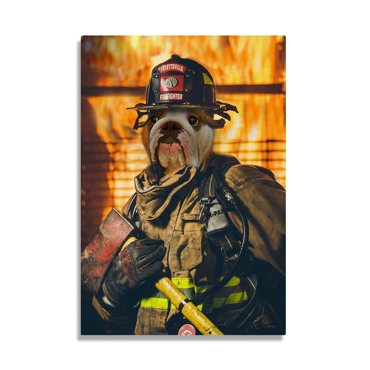 The Firefighter - Custom Pet Canvas