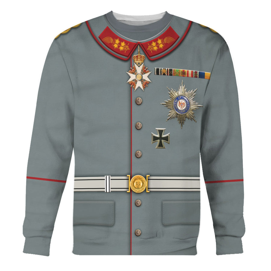 Wilhelm Ii Former German Emperor Long Sleeves / S Qm614