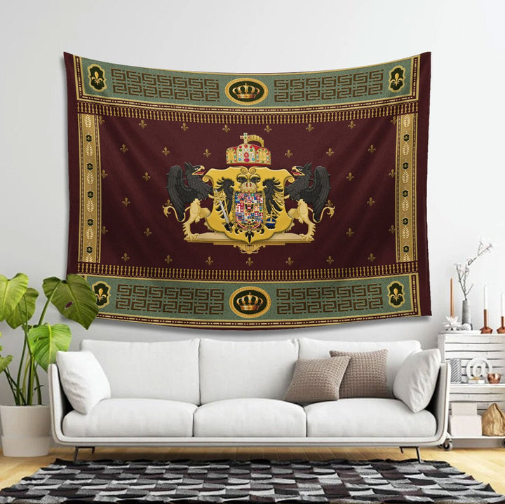 Coat Of Arms Francis Ii Holy Roman Empire Tapestry Carpet - 2 Holes / S (29.5 X 35.4 Inches 2.5 X 3