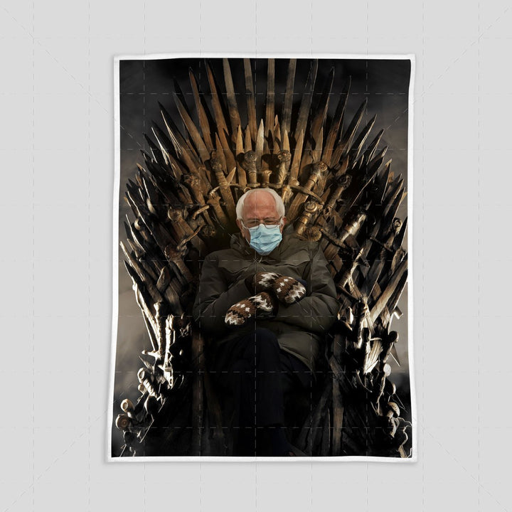 Bernie Meme Game of Thrones Blanket