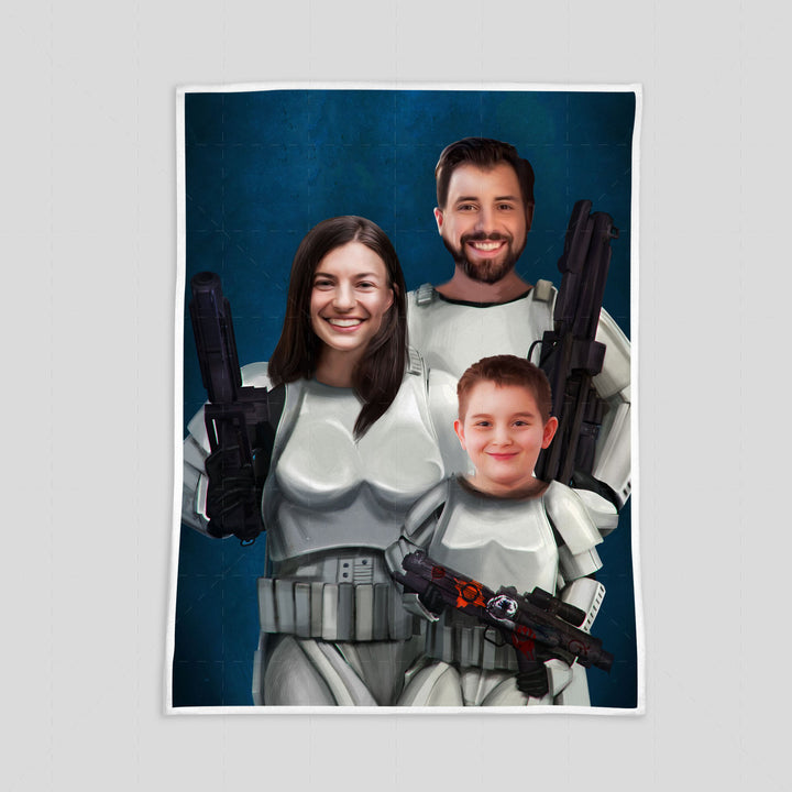 Stormtropper Family Custom Blanket