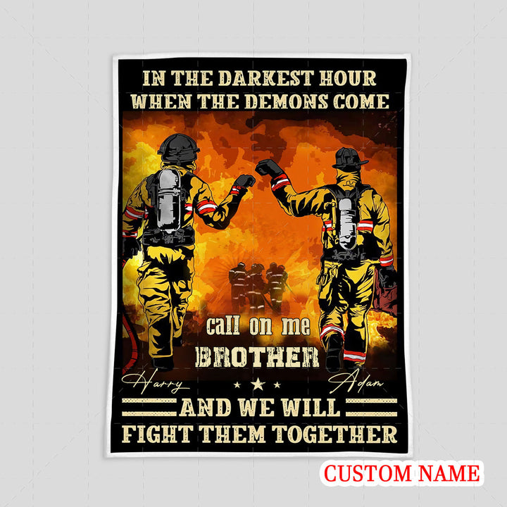 Personalized Blanket - Firefighter Friends