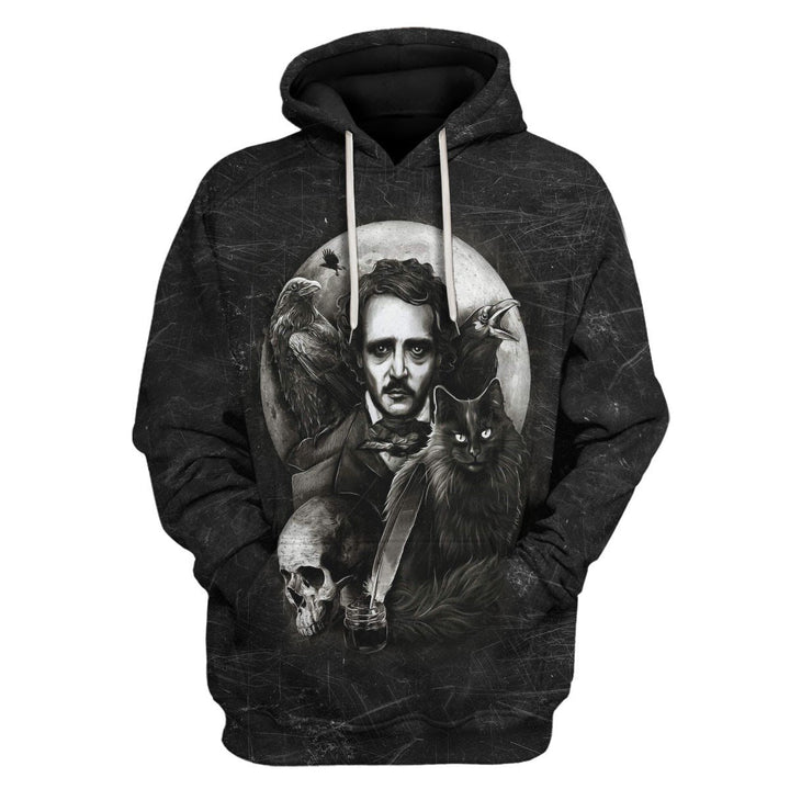 The Raven And Black Cat Hoodie / S Qm900
