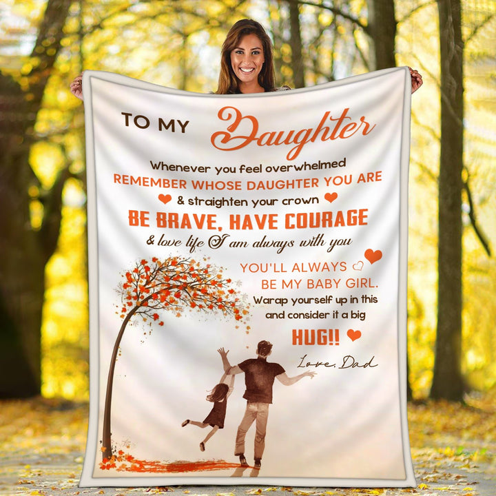 To My Daughter Blanket / S (51 X 59 Inches - 4 5 Feet ) G21