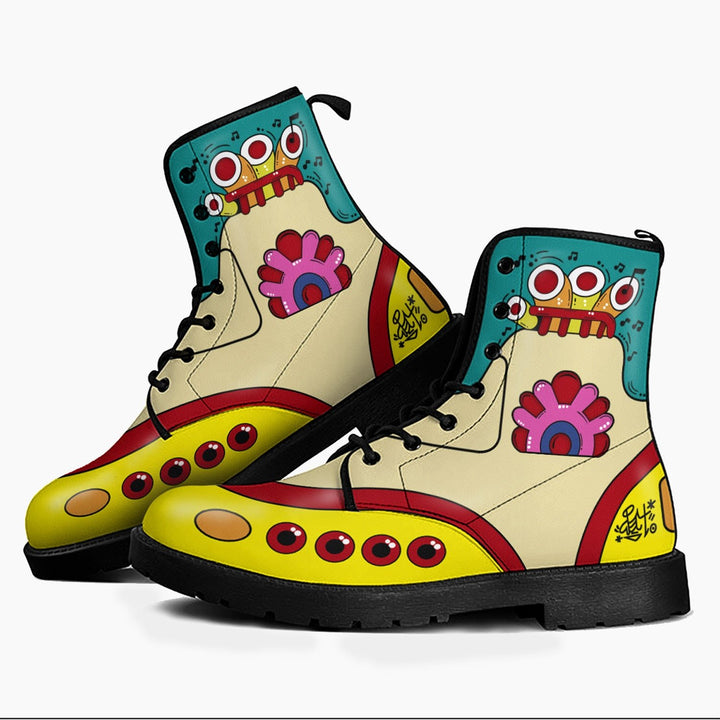 Yellow Submarine The Beatles Shoes Men Boots / 6 Qm1678