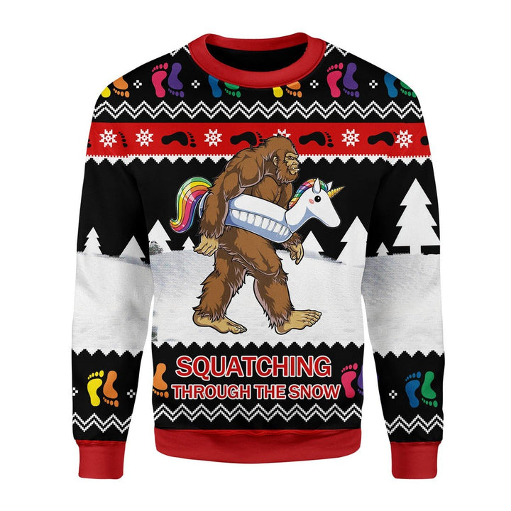 Lgbt Bigfoot Christmas Ugly Sweater / S Kd868