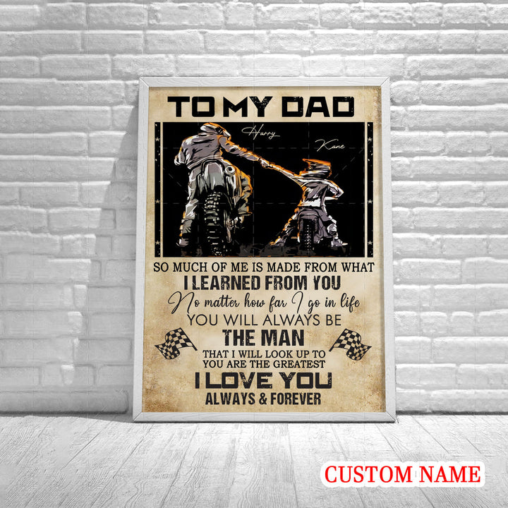 Personalized Poster - Father Rider And Son