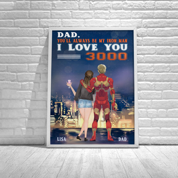 Personalized Poster You'll Always Be My Iron Man