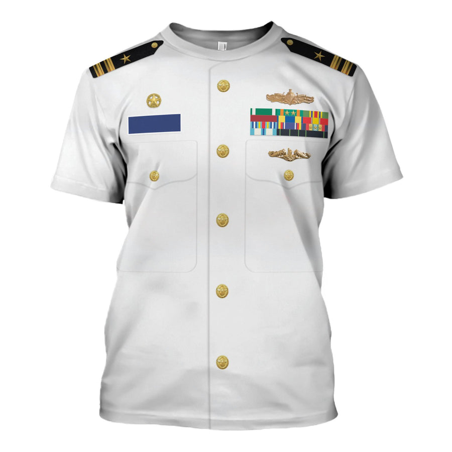 Us Navy Uniform Dress Service White T-Shirt / S Vn243
