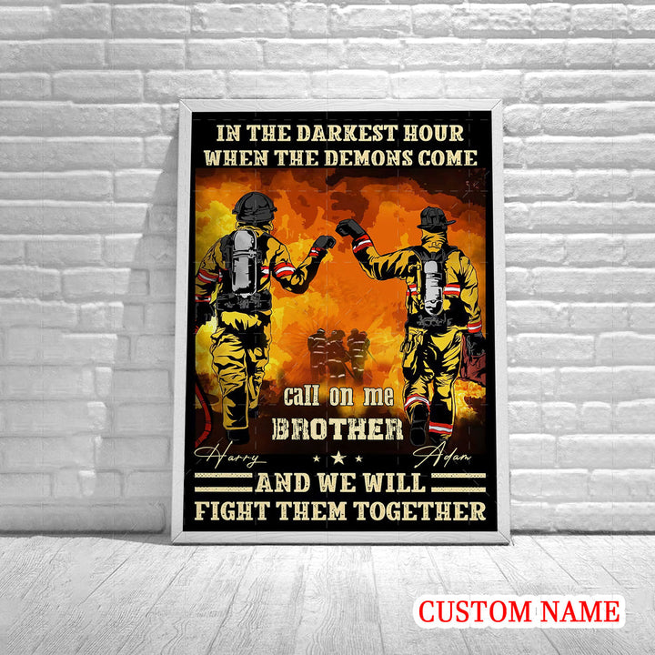 Personalized Poster - Firefighter Friends
