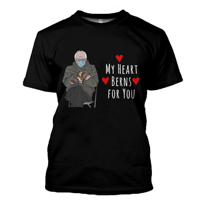 My Heart Berns For You 2D T-Shirt