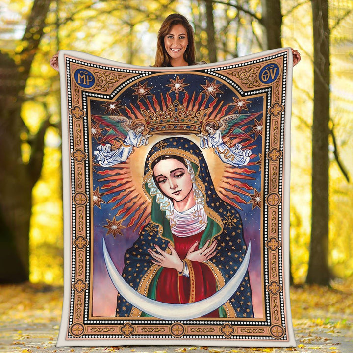 Our Lady Of The Gate Dawn Blanket / S (51 X 59 Inches - 4 5 Feet ) Qm1615