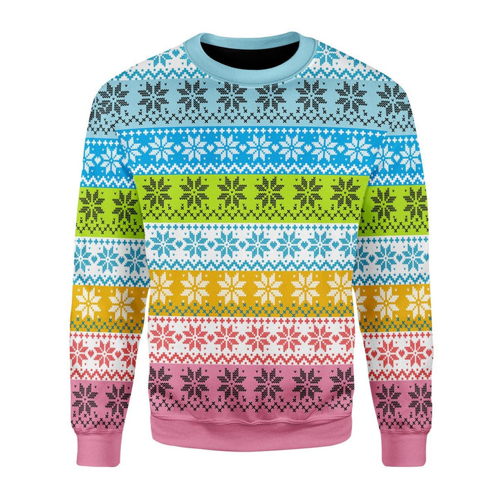 Queer Flag Christmas Ugly Sweater / S G774