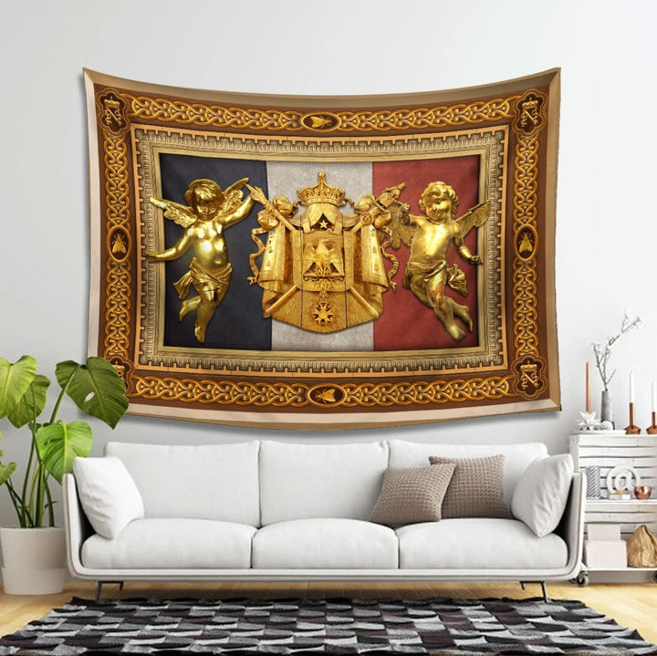 Napoleon Tapestry - 4 Holes / S (27.6 X 39.4 Inches 2.3 3.2 Feet) Qm1393