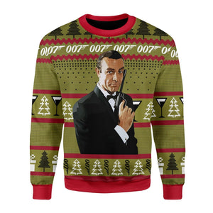 James Bond 007 Ugly Christmas Sweater / S Kd406