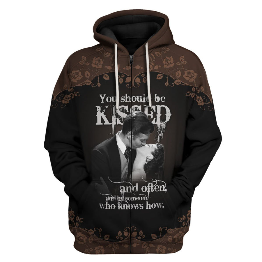 Gone With The Wind Zip Hoodie / S Qm1055