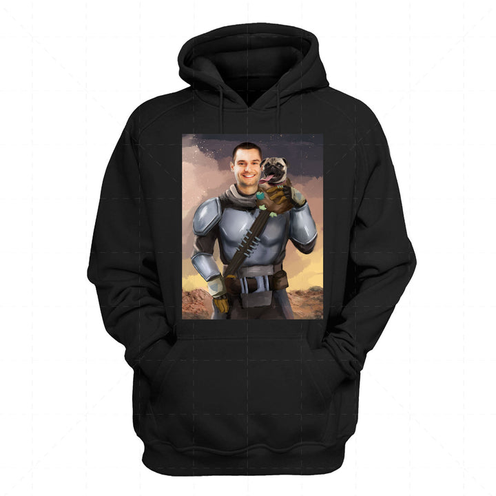 Beska Mandalorian And Pet Custom 2D Hoodie