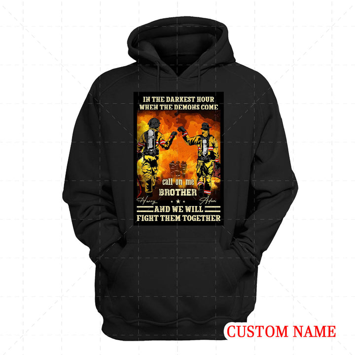 Personalized 2D Hoodie Firefighter Friends