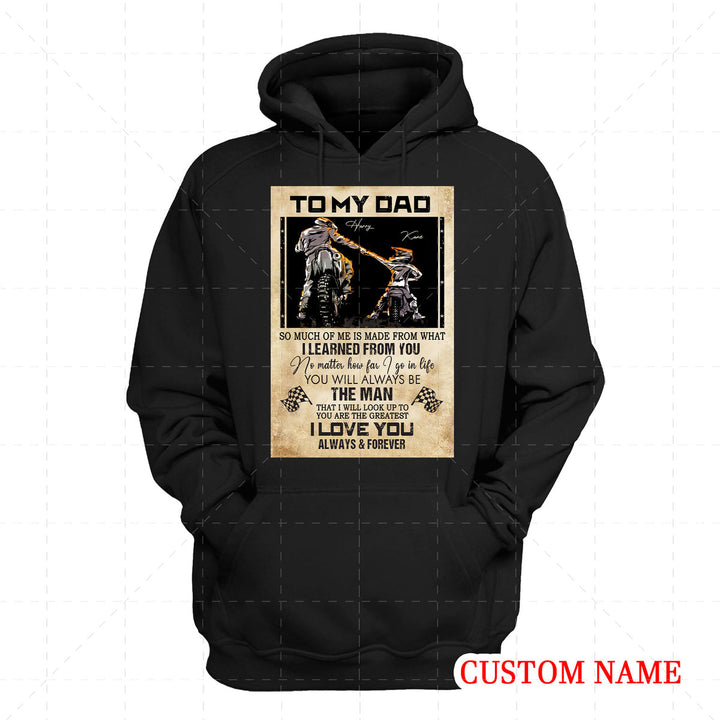 Personalized 2D Hoodie Father Rider And Son