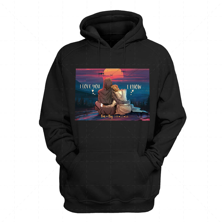 Ben And Rey Star Wars Valentine Gift 2D Hoodie