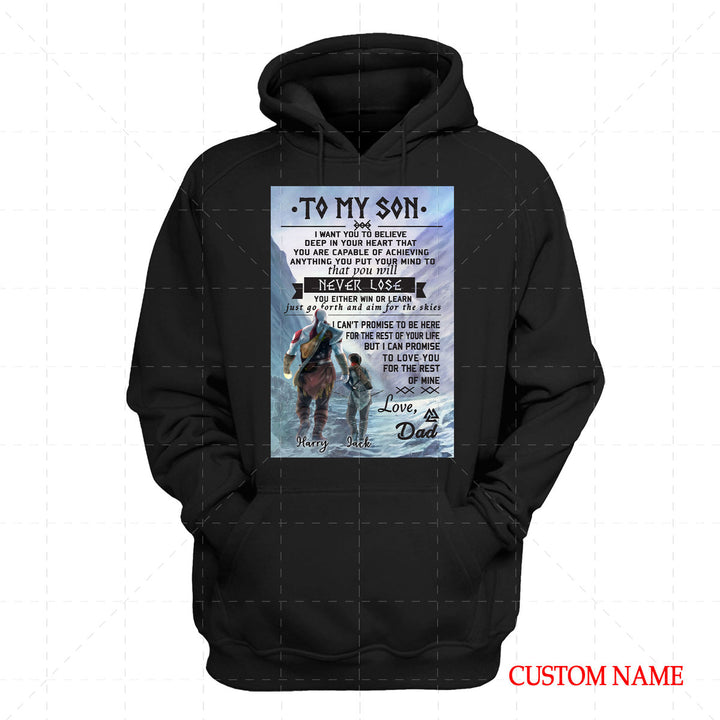 To My Son Viking Customized Name 2D Hoodie