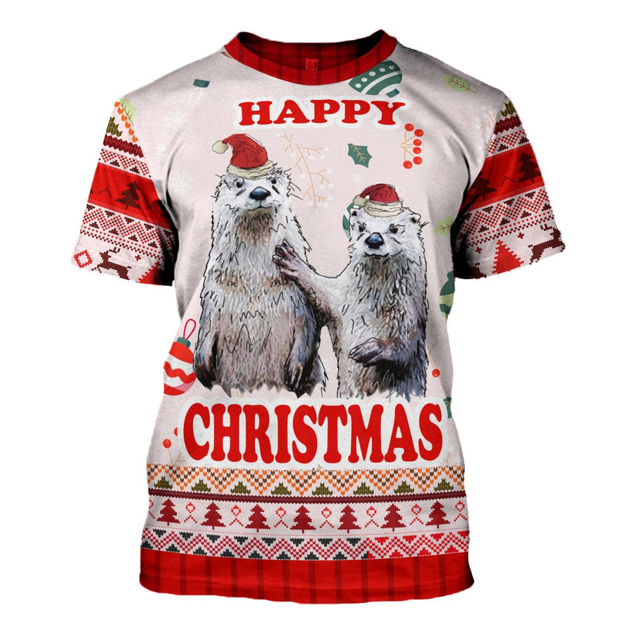 Couple Christmas Ugly Sweater T-Shirt / S Kd185
