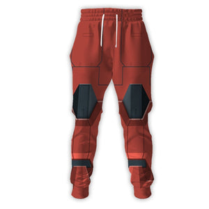 Prinkays 3D Red Zaku Qm9003 Sweatpants / S