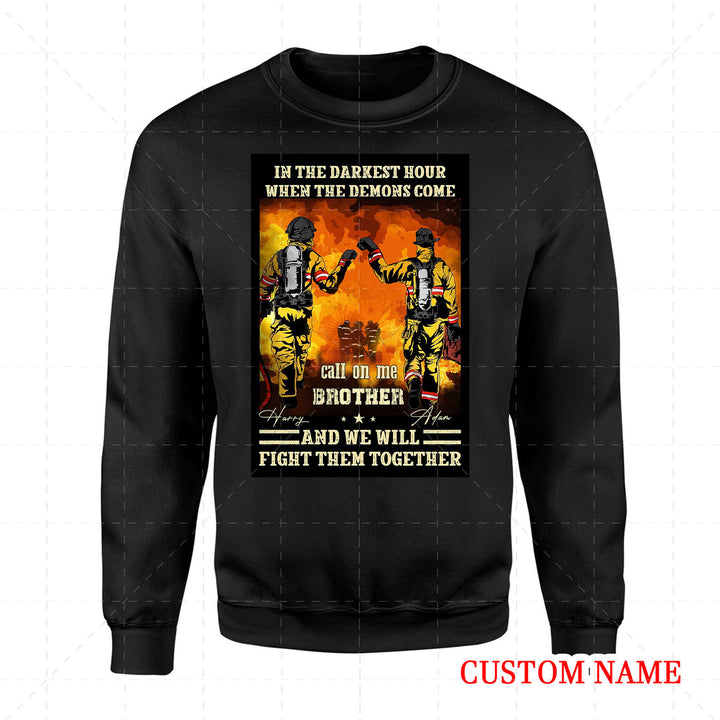 Personalized 2D Sweatshirt - Firefighter Friends
