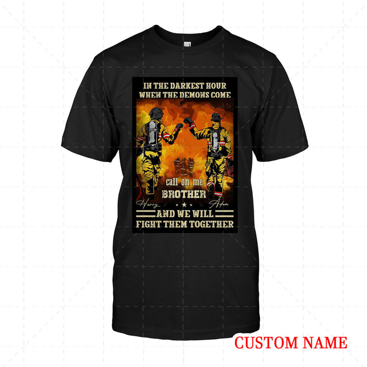 Personalized 2D T-Shirt - Firefighter Friends