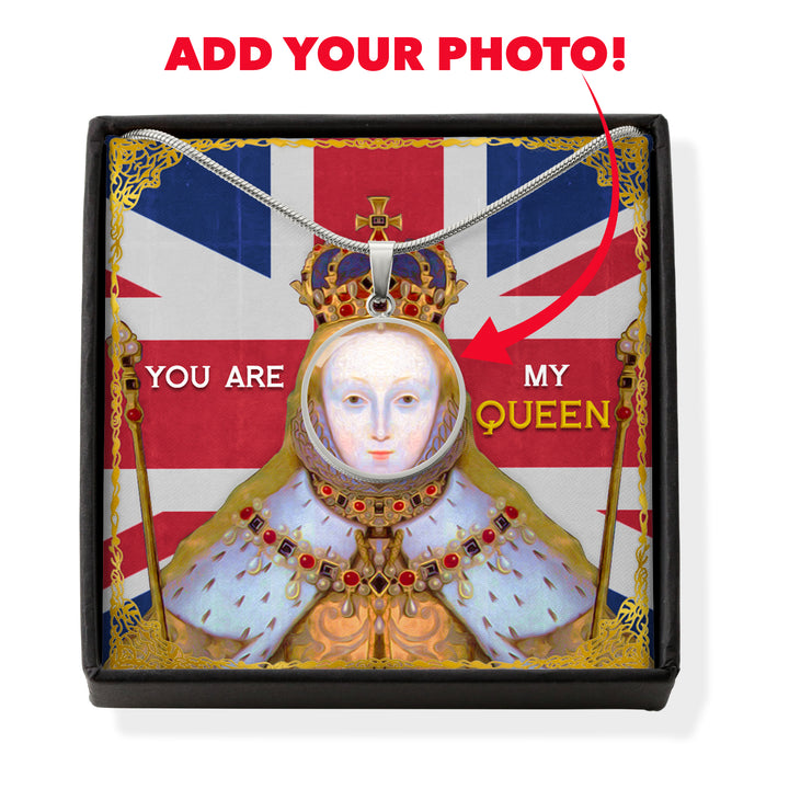 Victorious Elizabeth I Customized Face Portrait Historical Jewelry
