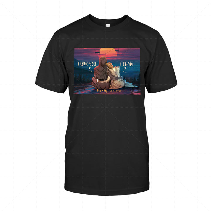 Ben And Rey Star Wars Valentine Gift 2D T-Shirt