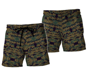 Marine Corp Uniform Beach Shorts / S Qm721