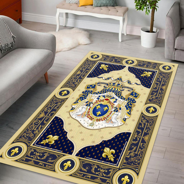 Louis Xiv Coat Of Arms Rug / Small (3 X 5 Feet - 35 59 Inches) Qm1341
