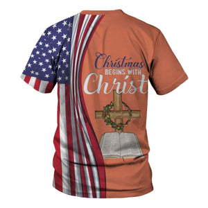 Christmas Begins With Christ Shirt Kd181 Fleece Zip Hoodie / S